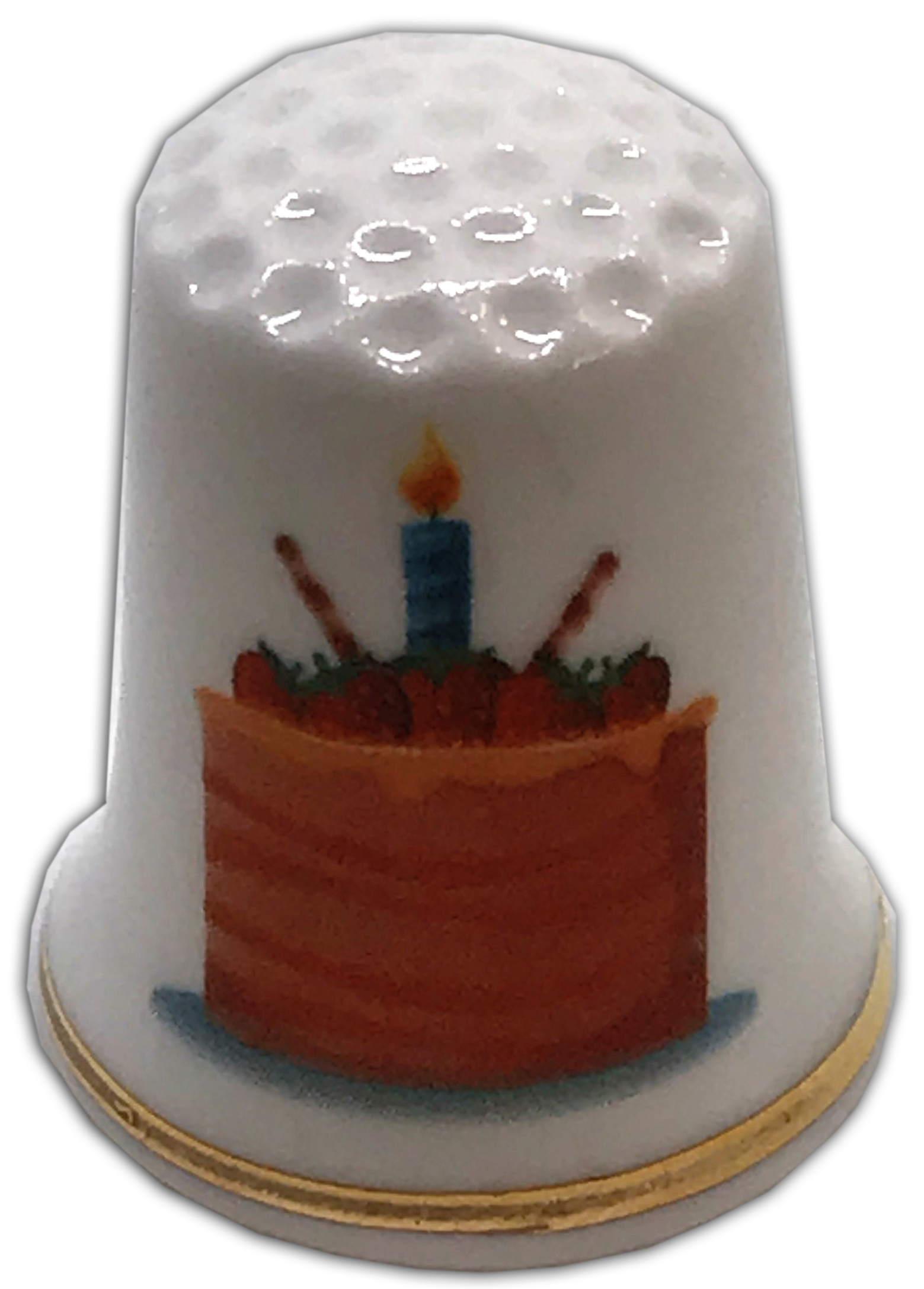 Marvelous Birthday Cake Personalised China Thimble Design 2 The Thimble Guild Birthday Cards Printable Nowaargucafe Filternl
